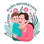 母亲节快乐矢量插画