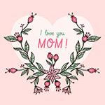 我爱妈妈矢量插图