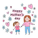 手绘母亲节插图