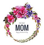 花朵装饰框母亲节卡片