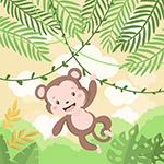 可爱卡通小猴子