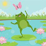 可爱青蛙插图
