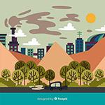 城市风景下的生态环境