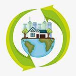 城市生态自然环保矢量