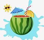 炎热夏天西瓜饮料
