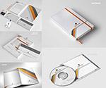 记事本与光盘封套图案
