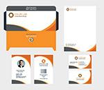 橙色企业视觉元素