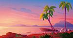 海滩日落美景