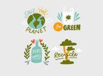绿色环保环保徽章