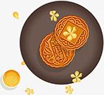 中秋节月饼矢量图