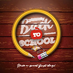 返校开学铅笔海报