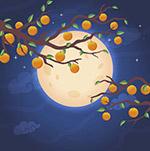 中秋节满月插图