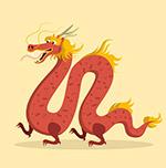 中国传统卡通龙矢量