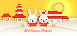 中秋节卡通兔