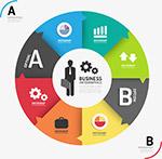 商务圆环信息图表