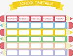 彩色铅笔课表
