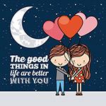 卡通浪漫情侣卡片