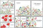 彩绘花卉邀请卡