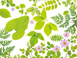 绿叶鲜花元素
