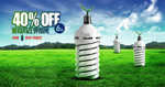 节能灯泡环保广告