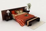中式风格双人床