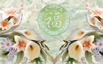 马蹄莲玉雕背景墙