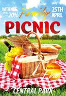 家庭野餐海报