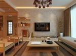 木质主题客厅模型
