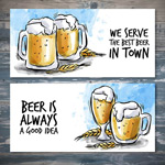 手绘啤酒节海报