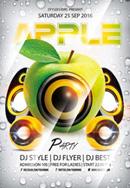 酒吧苹果派对海报