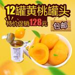淘宝黄桃罐头主图