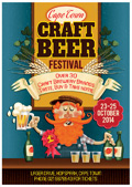 卡通国外啤酒海报