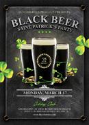 黑啤啤酒海报