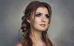 麻花辫发型图片