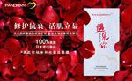 玫瑰花瓣面膜海报