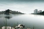 湖光水色地产元素