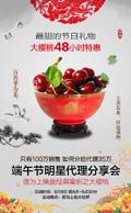 樱桃端午节海报