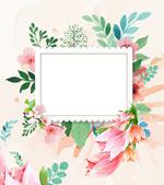 水彩花卉装饰背景