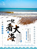 夏季海边旅游海报