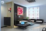 现代家装客厅模型