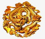 金色雕刻金属龙