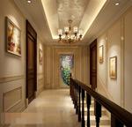 暖色酒店空间模型