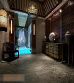 酒店大厅模型