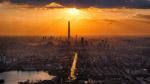 日落城市建筑图片
