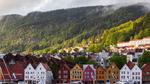 挪威山下民居