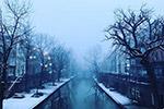 冬季沿河街景