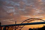 日落城市桥梁