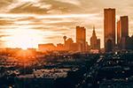 日落城市建筑