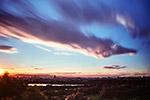 北京日落风景图片