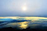 日落海洋天空图片